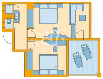 Economy- Familienzimmer