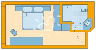 Doppelzimmer Parkseite Standard