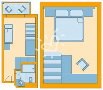 Familienzimmer Typ 1 zur Seeseite