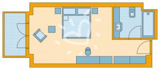 Familien-/Doppelzimmer Village